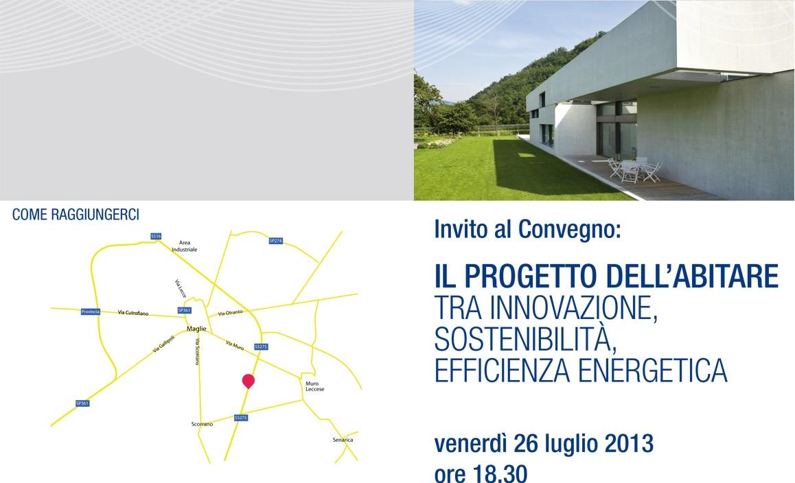 Il progetto dell'abitare tra innovazione, sostenibilità, efficienza energetica