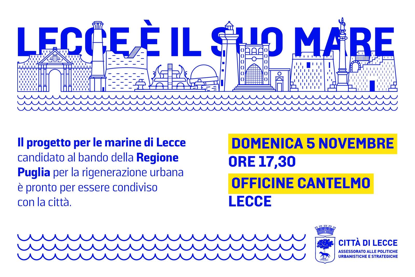 Comune di Lecce – PRESENTAZIONE LECCE E' IL SUO MARE | INVITO