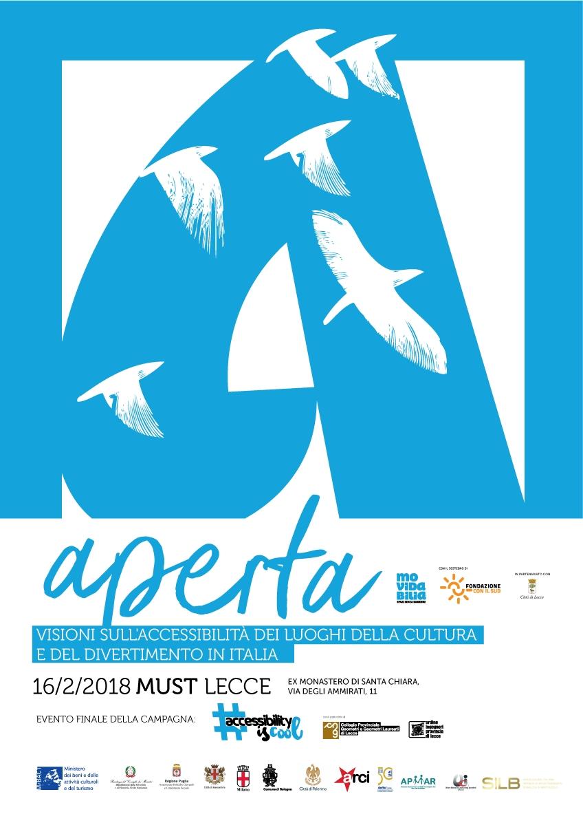 """Movidabilia a.p.s. – Evento """"Aperta – Visioni sull'accessibilità dei luoghi della cultura e del divertimento in Italia"""" – Lecce 16/02/2018"""