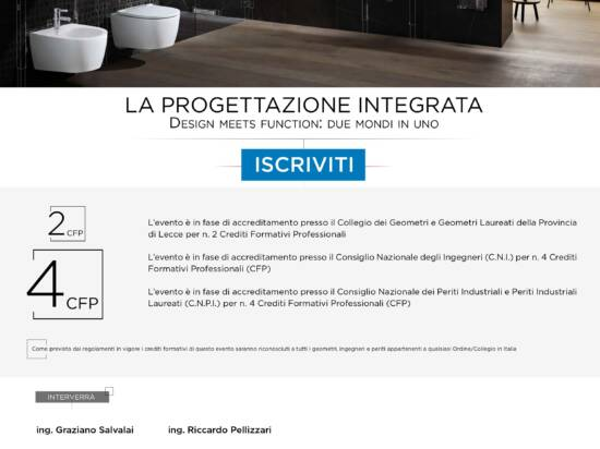 "Action Group Srl – Evento ""LA PROGETTAZIONE INTEGRATA – DESIGN MEETS FUNCTION: DUE MONDI IN UNO"" – Lecce 24/09/2020"